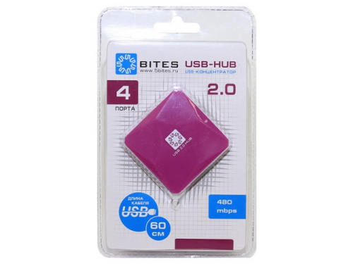 USB ������������ 5bites HB24-202PU PURPLE, ��� 2