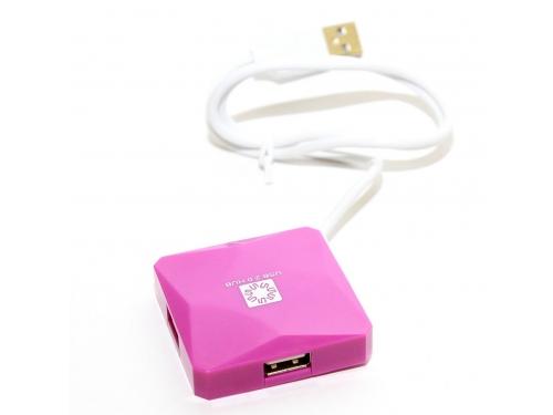 USB ������������ 5bites HB24-202PU PURPLE, ��� 3