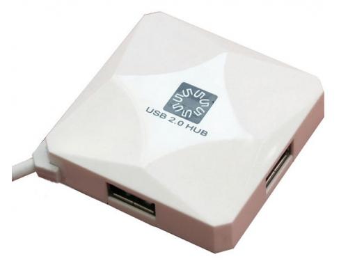USB ������������ 5bites HB24-202WH WHITE, ��� 1