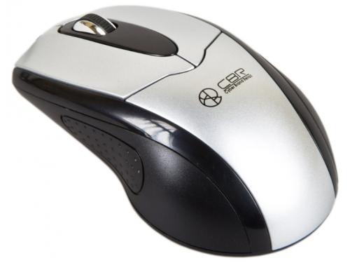 Мышка CBR CM-101 Silver, оптика, 1200dpi, офисн.провод 1,8 метра, USB, CM 101 Silver, вид 1