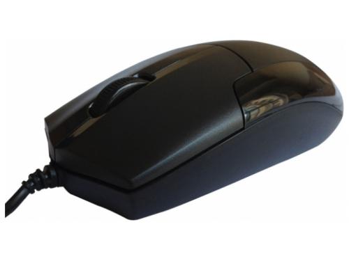 Мышка CBR CM-302 Black, оптика, бесшумное нажатие, провод 1.8 метра, USB, CM 302 Black, вид 2