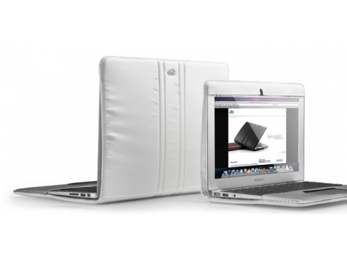 ����� ��� �������� MacBook Air 11 Emperor Jacket MBA-11 �owhide Leather Case White, ��� 1