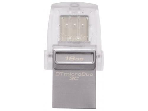 Usb-флешка Kingston 16GB DT microDuo 3C, USB 3.0/3.1 + Type-C flash drive, вид 2