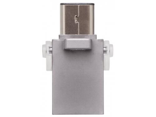 Usb-флешка Kingston 16GB DT microDuo 3C, USB 3.0/3.1 + Type-C flash drive, вид 3