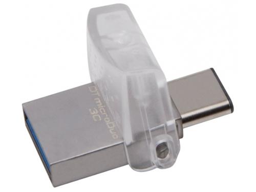 Usb-флешка Kingston 16GB DT microDuo 3C, USB 3.0/3.1 + Type-C flash drive, вид 4
