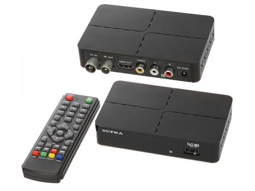 Tv-тюнер Supra SDT-90, черный, вид 1