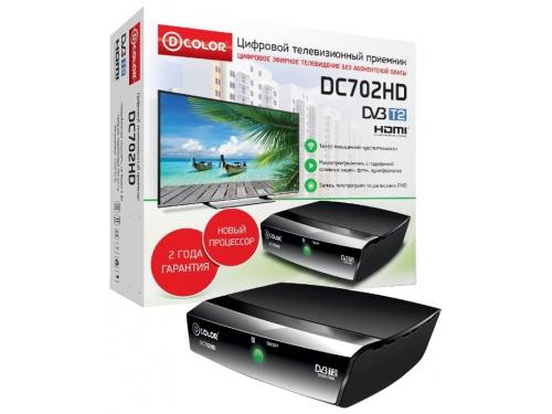 Tv-тюнер D-Color DC702HD, черный, вид 1