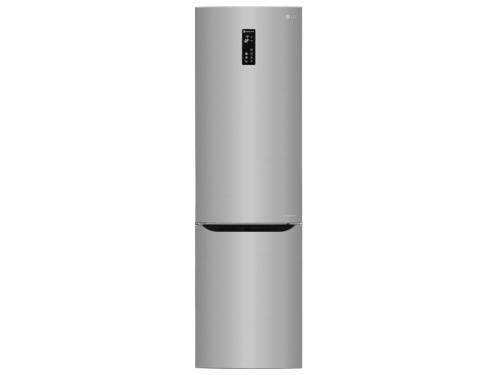 Холодильник LG GW-B489SMFZ, серебристый, вид 1