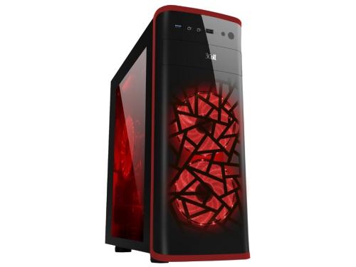 Корпус ATX 3Cott 3C-ATX901GR Avalanche 800W, черный/красный, вид 1