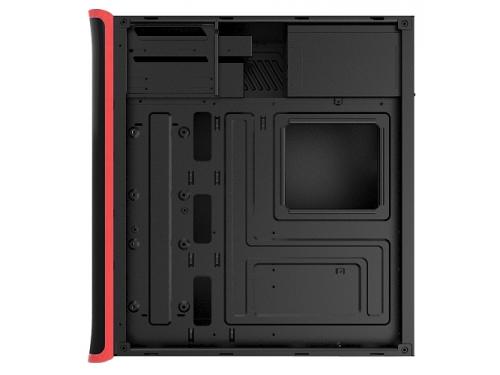 Корпус ATX 3Cott 3C-ATX901GR Avalanche 800W, черный/красный, вид 2