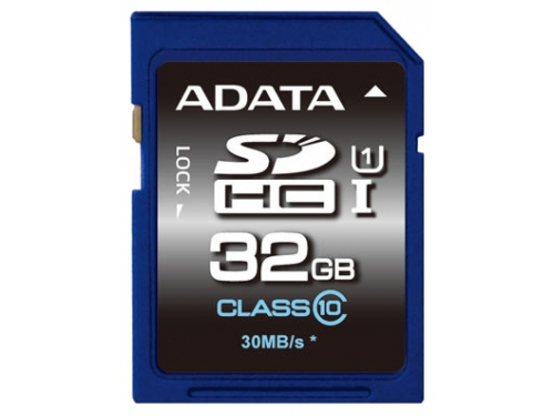 Карта памяти ADATA Premier SDHC Class 10 UHS-I U1 32GB, вид 1