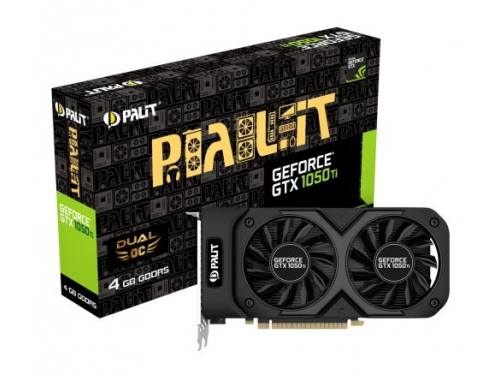 Видеокарта GeForce Palit GeForce GTX 1050 Ti 1366Mhz PCI-E 3.0 4096Mb 7000Mhz 128 bit DVI HDMI HDCP, Dual OC 4G (NE5105TS18G1-1071D), вид 5