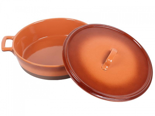 Кастрюля Unit UCW-4202/36 керамическая, коричневая, вид 2