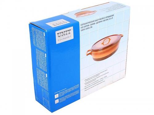 Кастрюля Unit UCW-4202/36 керамическая, коричневая, вид 3
