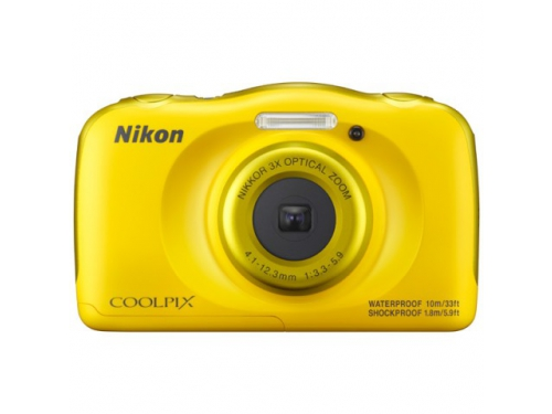 Цифровой фотоаппарат Nikon Coolpix W100, желтый, вид 1