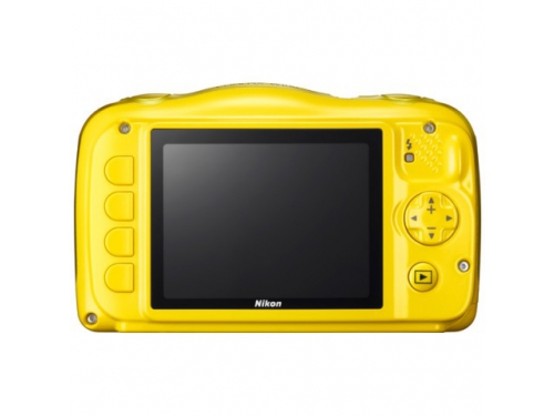 Цифровой фотоаппарат Nikon Coolpix W100, желтый, вид 2