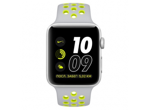Умные часы Apple Watch Nike+ 42mm Space Grey Silver Al/Volt (MNYQ2RU/A), вид 1