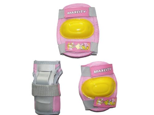 Товар для детей MaxCity Little Rabbit (набор роликовой защиты), размер М, розовый, вид 1