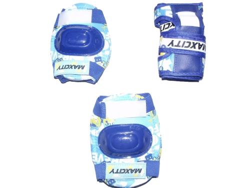 Защита роликовая MaxCity Teddy р. М, синяя, вид 1