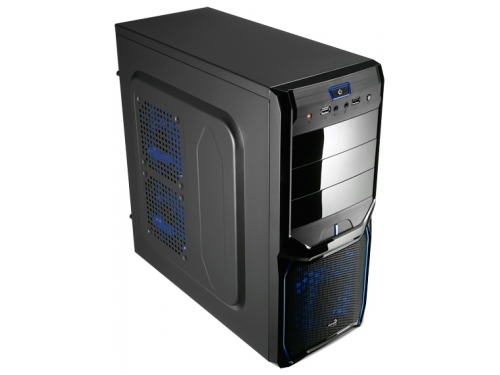 Корпус Aerocool V3X Advance Blue Edition, ATX, 600Вт, USB 3.0, вид 1