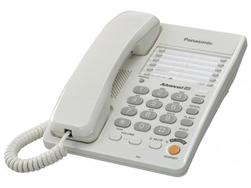 Проводной телефон Panasonic KX-TS2363RUW, белый, вид 1