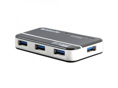 USB ������������ Defender QUADRO Quick USB3.0 - 4 �����, + ���� ������� DC 5�...2�, + ������ USB 3.0 A(, ��� 1