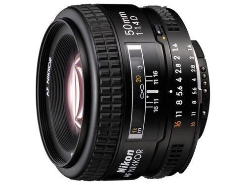 Объектив для фото Nikon 50mm f/1.8D AF Nikkor, вид 1