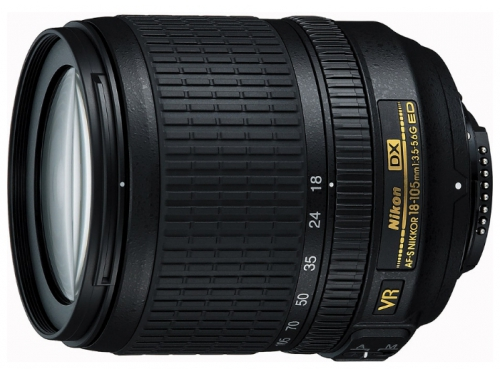 Объектив для фото Nikon 18-105mm f/3.5-5.6G AF-S ED DX VR Nikkor, вид 1