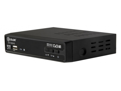 Tv-тюнер D-Color DC1302HD, черный, вид 2