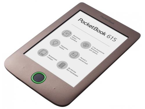 Электронная книга PocketBook 615, коричневая, вид 3