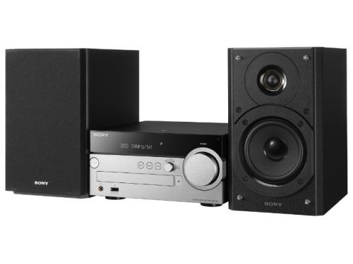 Музыкальный центр Sony CMT-SX7, черный/серебристый, вид 1