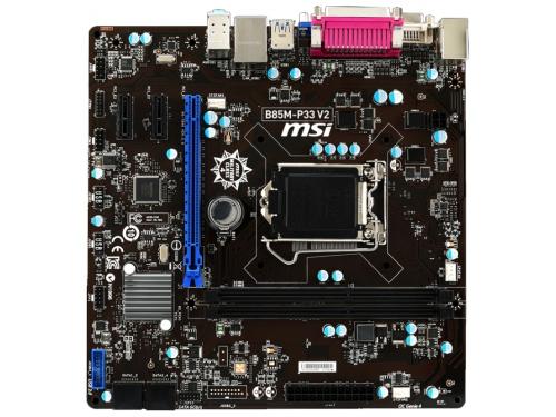 Материнская плата MSI B85M-P33 V2, вид 1