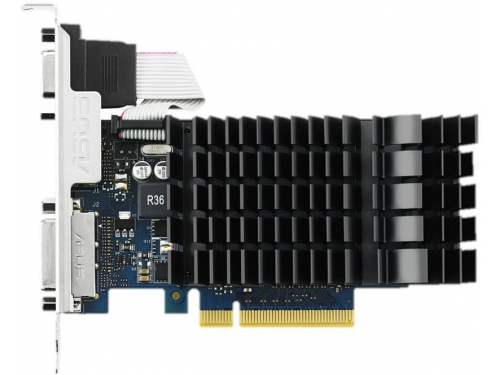 Видеокарта GeForce ASUS GeForce GT730 (PCI-E 2.0, 902 MHz, 2Gb GDDR3 1800MHz, 64-bit), вид 7