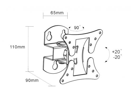 Кронштейн ARM Media LCD-101 Black, вид 2