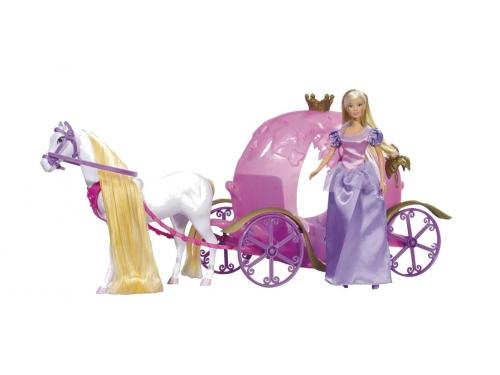 Кукла Simba Штеффи и ее сказочная карета, 29см/67см, вид 1