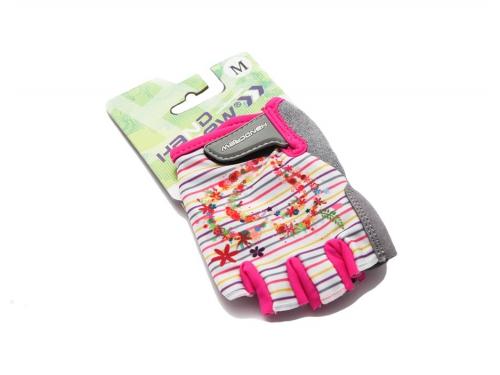 Велоперчатки Handcrew  kids Dino  р. (M), розовые, вид 1