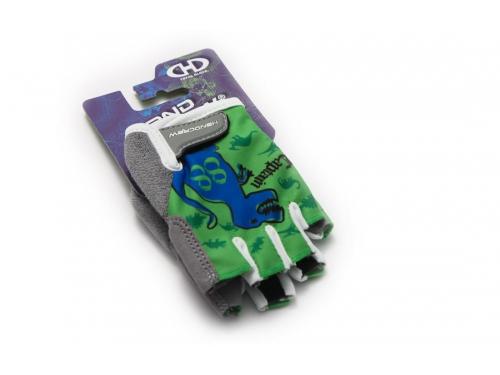 Велоперчатки Handcrew  kids Dino  р. (S), зелёные, вид 1