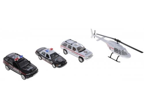 Товар для детей Welly, набор машин Полиция, 4 шт., вид 1