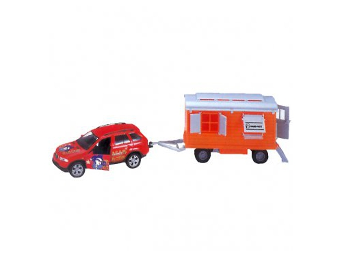 Товар для детей Welly, набор цирк Volvo XC90, с прицепом, вид 1