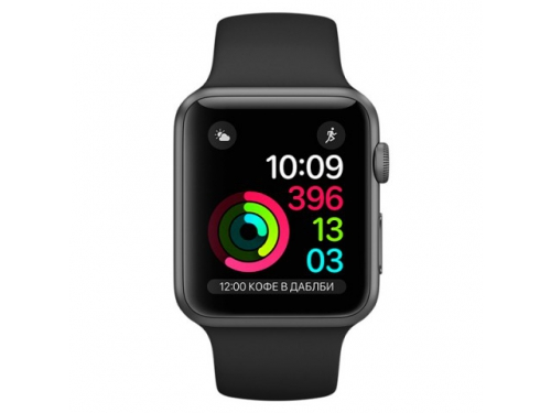 Умные часы Apple Watch Series 2 42mm, графит/черные, вид 1