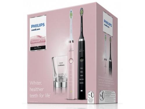 Зубная щетка Philips HX9368/35, розовая / чёрная, вид 2