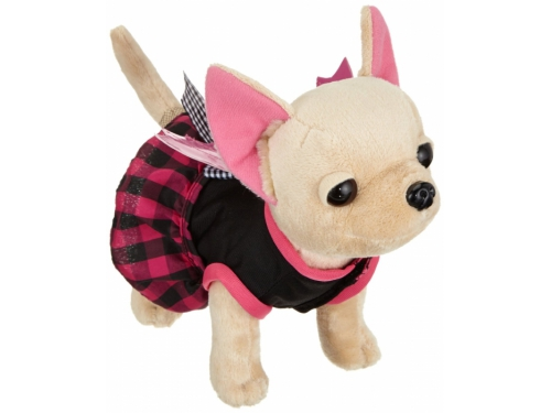 Игрушка мягкая Simba Плюшевая собачка Вампирчик, в платье с крылышками, в сумочке, 20 см, вид 1