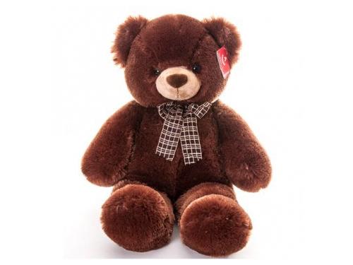 Игрушка мягкая Aurora Медведь с коричневым бантом, 69 см, вид 1