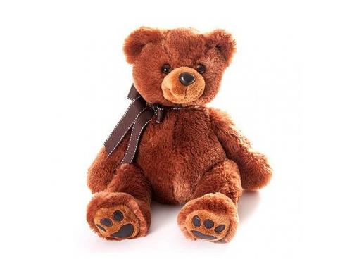 Игрушка мягкая Aurora Медведь 50 см, темно - коричневый, вид 1