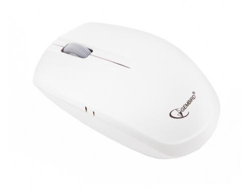 Мышка Мышь беспроводная Gembird MUSW-207W,бел, 2кн.+колесо-кнопка, 2.4ГГц, вид 1