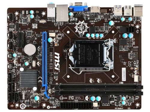 ����������� ����� MSI H81M-E33 Soc-1150, ��� 1