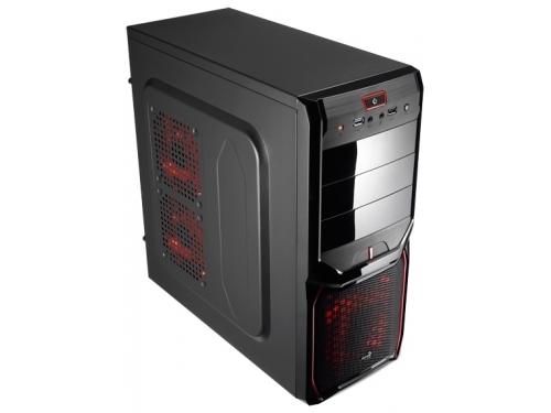 Корпус Aerocool V3X Advance Devil Red Edition, ATX, 600Вт, USB 3.0, вид 1