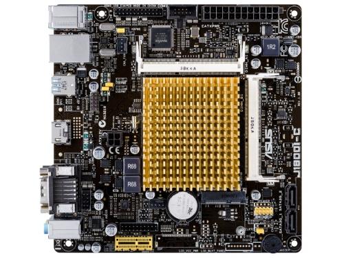 Материнская плата ASUS J1800I-C, with Intel® Dual-core Celeron® J1800 (2.41 GHz), mATX, 2xSODIMM DDR3 1xPCI-E VGA HDMI, вид 1