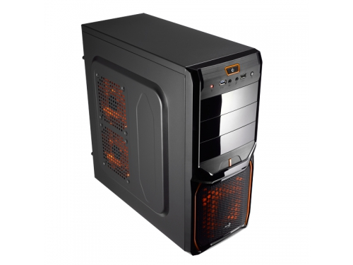 Корпус Aerocool V3X Advance Evil Black Edition, ATX, 600Вт, Midi-Tower, USB3.0, красная подсветка, вид 9