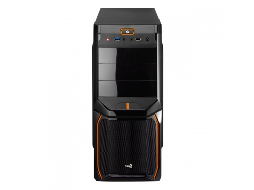 Корпус Aerocool V3X Advance Evil Black Edition, ATX, 600Вт, Midi-Tower, USB3.0, красная подсветка, вид 3